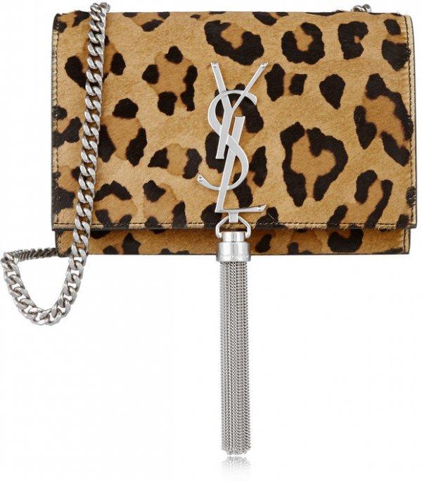 YSL Leopard Print Shoulder Bag