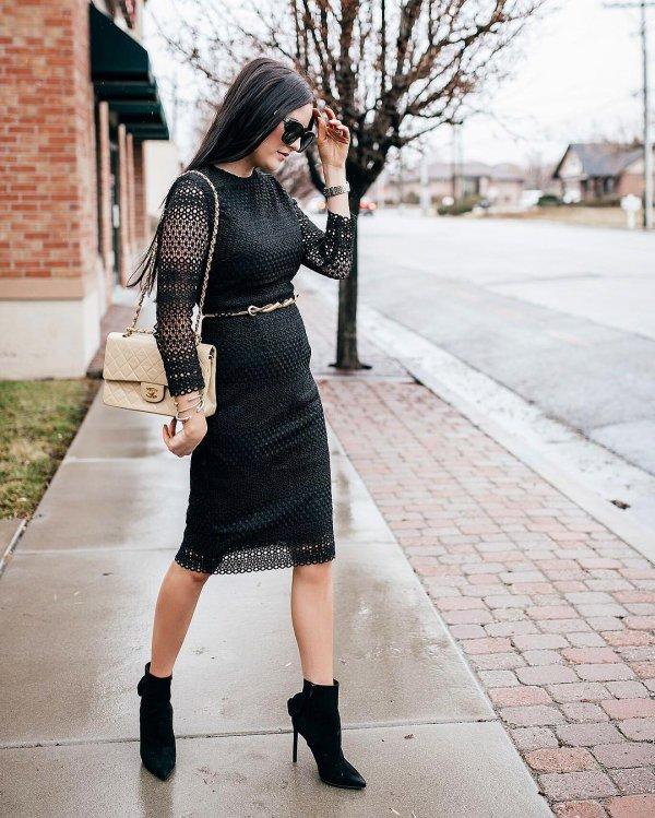 white, black, clothing, footwear, dress,