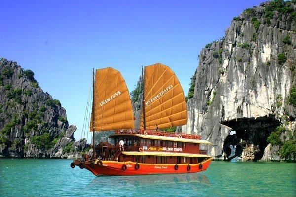 Riding a Vietnamese Junk Boat