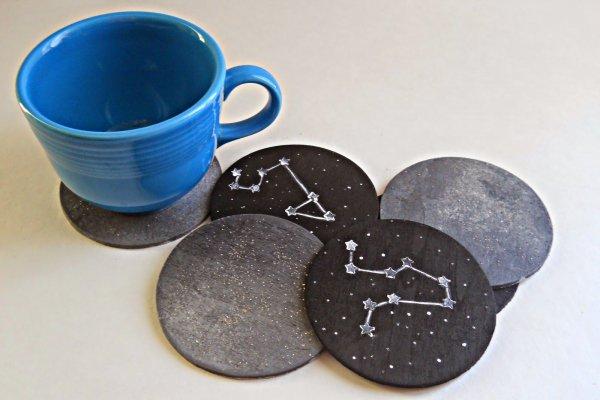 Moon and Stars Coasters