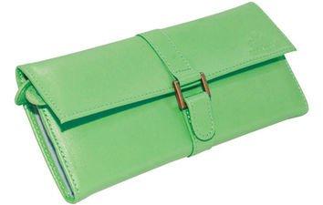Green Ryan Leather Jewelry Roll