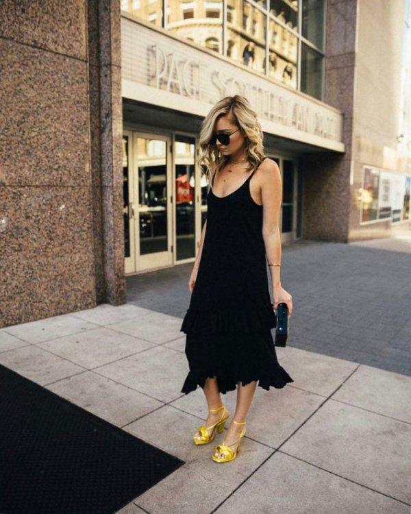 clothing, little black dress, black, dress, footwear,