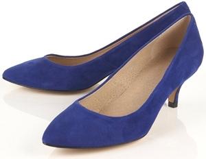 Topshop Janie Blue Suede Point Court Shoes