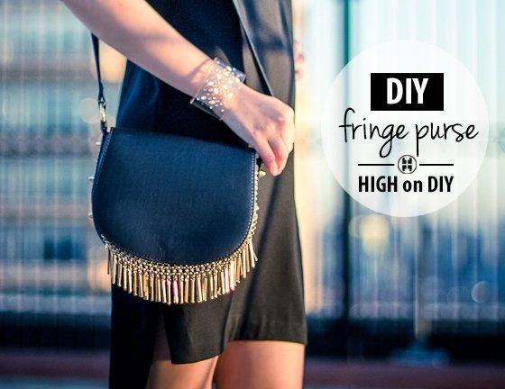 DIY Gold Fringe Purse