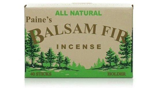 Paine's Balsam Fir Incense, 40 Balsam Sticks and Holder