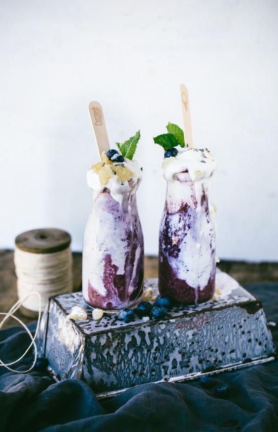 Blueberry Lavender & Honeycomb Breakfast Milkshake