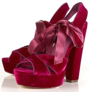 Topshop Luxury Velvet Platform Sandals