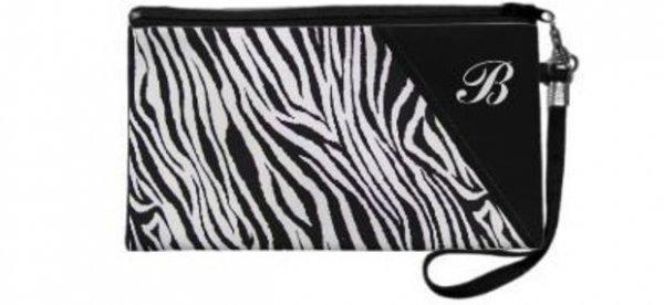 Zebra Print Wristlet