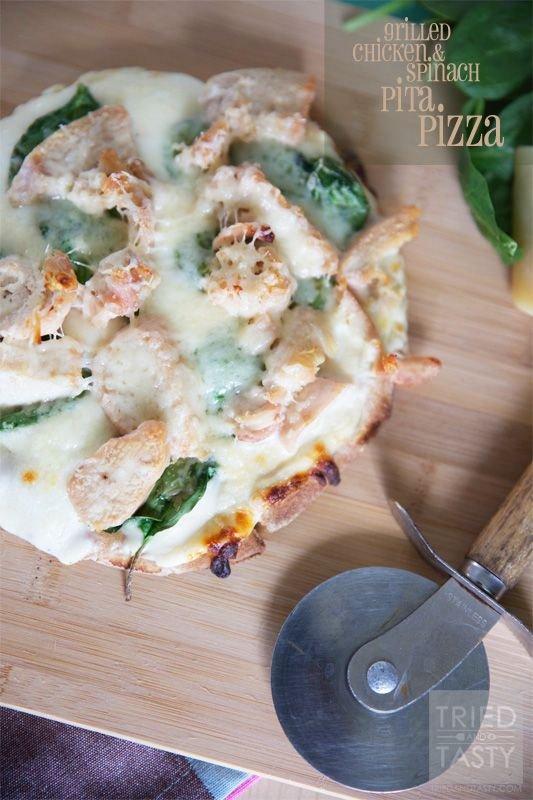 Grilled Chicken & Spinach Pitza