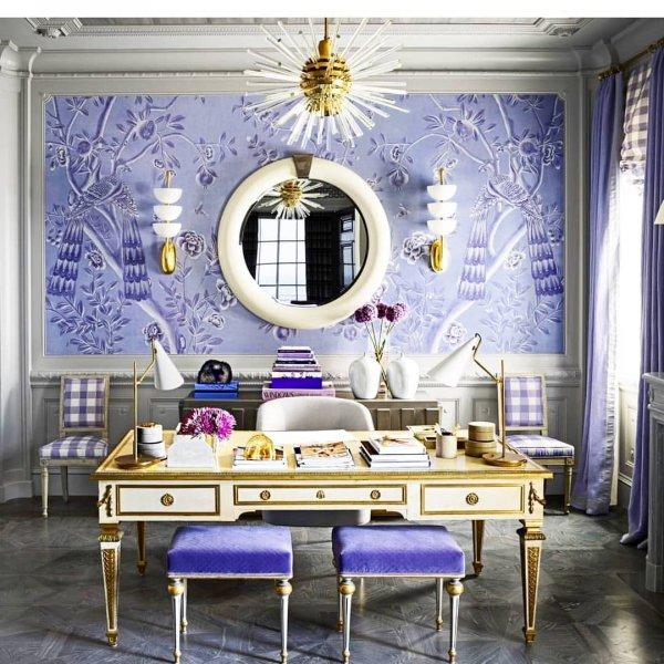 Purple, Room, Interior design, Violet, Wallpaper,