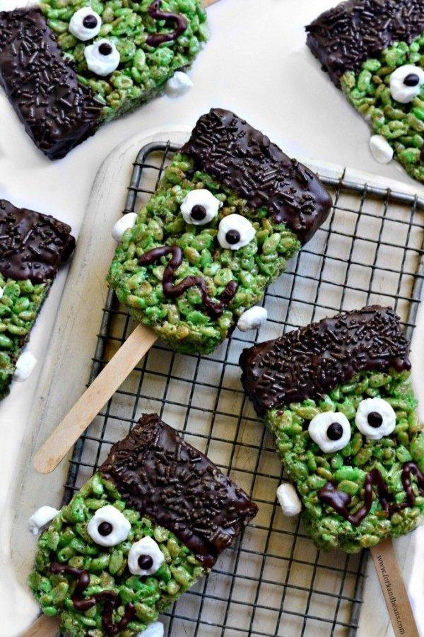 Frankenstein Rice Kris Pies