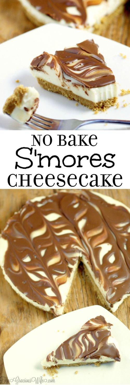 Easy No-Bake Smores Cheesecake