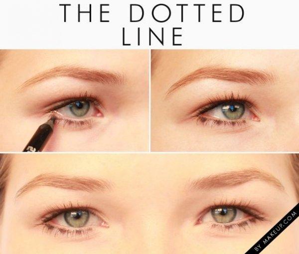 Dotted Line Bottom Eyeliner