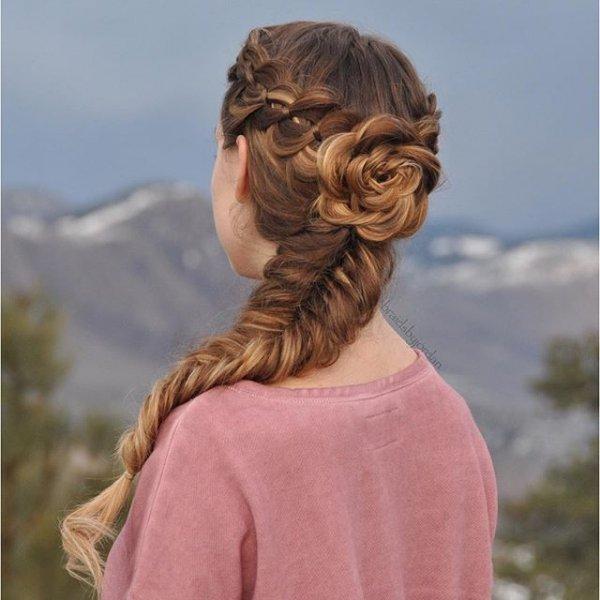 hair, hairstyle, long hair, braid, headgear,