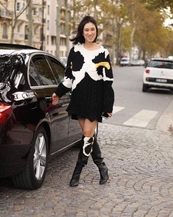 Street fashion, Black, Clothing, Fashion, Footwear,