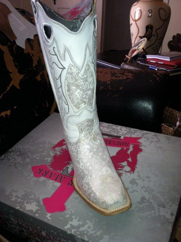 White Wedding Cowboy Boots