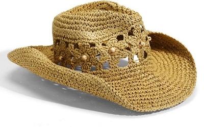 Tarnish Crocheted Straw Cowboy Hat