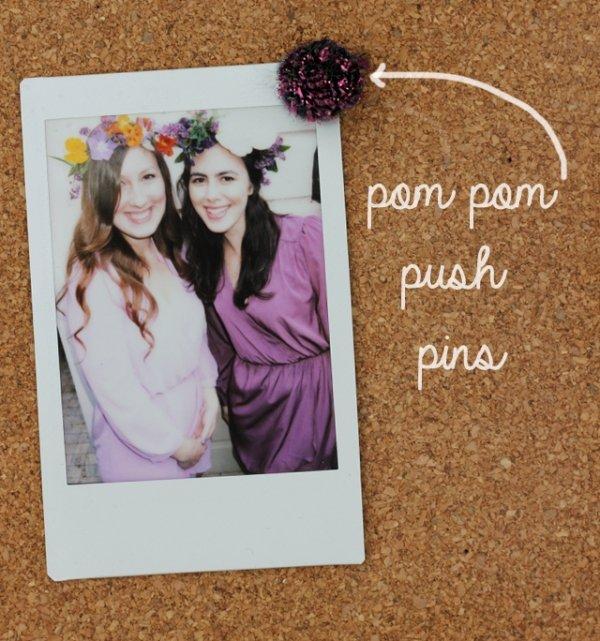 Pom Pom Push Pins
