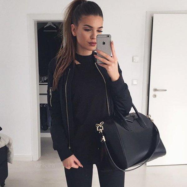 clothing, black, outerwear, sleeve, jacket,