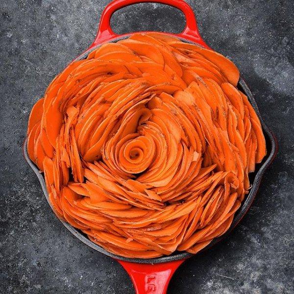 orange, red, flower, food, petal,