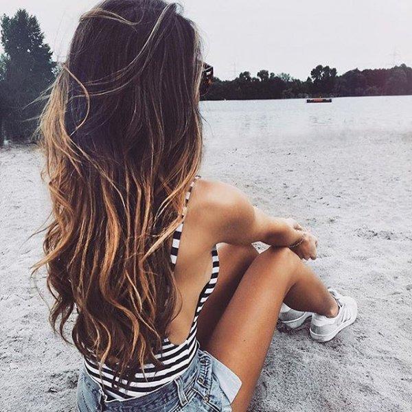clothing, hair, hairstyle, sea, beauty,