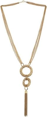 Topshop Mesh Loop Tassel Necklace