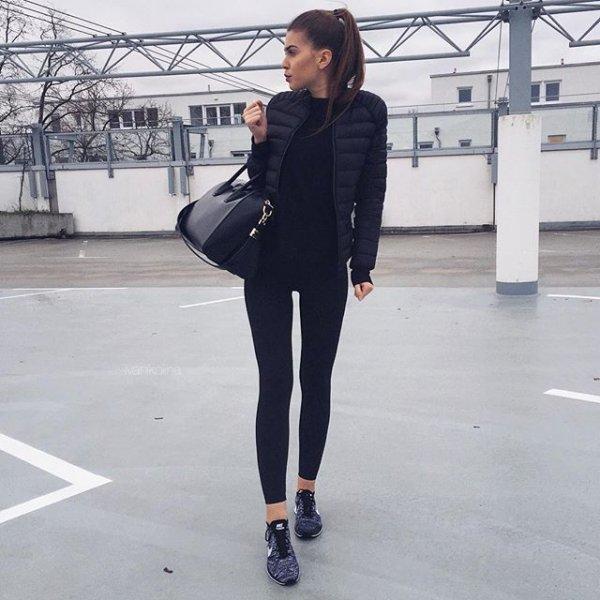 clothing, black, footwear, jacket, outerwear,