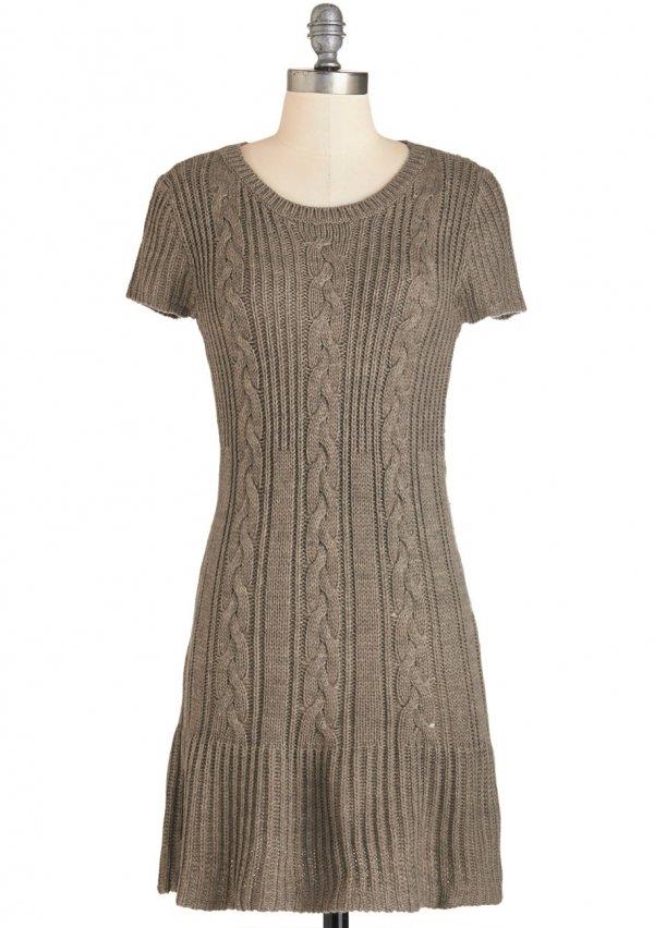 ModCloth Short Length Short Sleeves Sweater Dress
