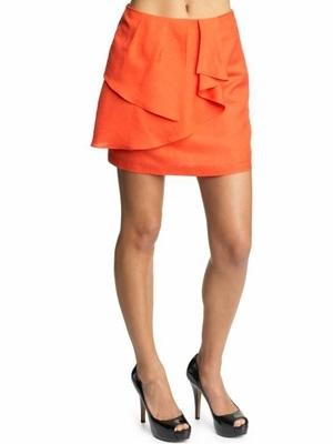 Tinley Road Linen Ruffle Mini Skirt