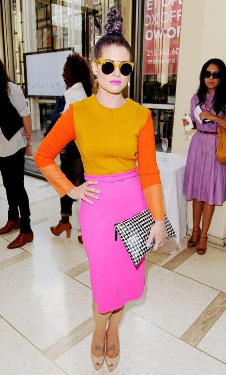 Clothing, Pink, Orange, Street fashion, Yellow,