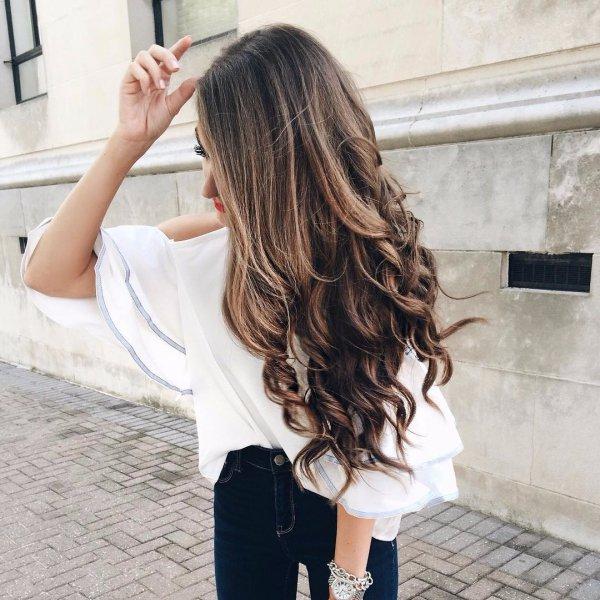 hair, white, clothing, hairstyle, long hair,