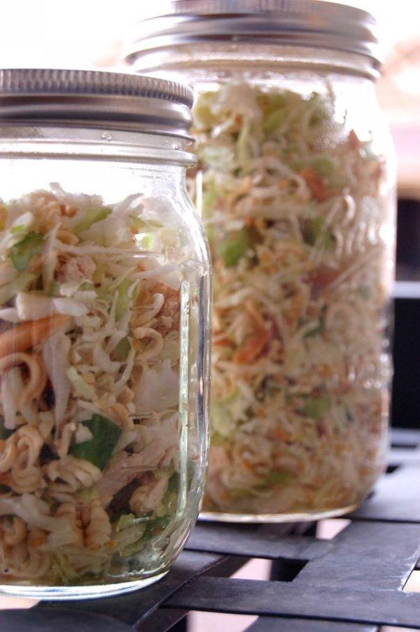 Healthy Asian Salad in a Jar
