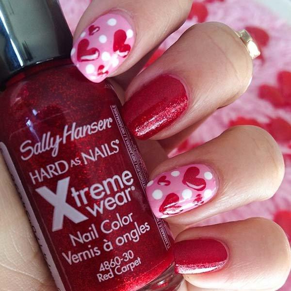 color, nail, pink, red, nail polish,