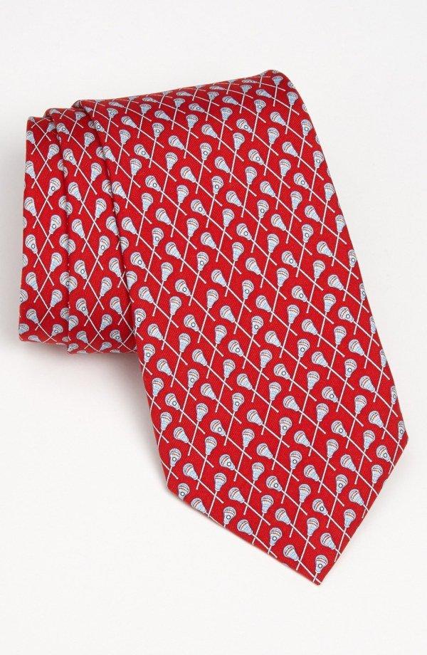red, necktie, placemat, pattern,