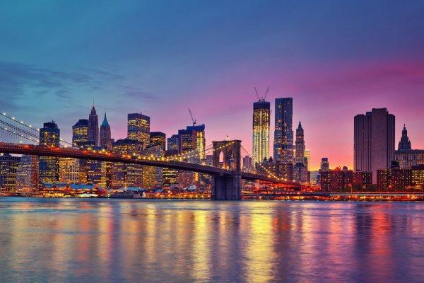 Brooklyn Bridge, New York City, skyline, cityscape, metropolitan area,