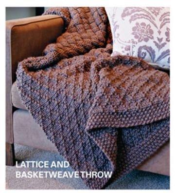 Lattice and Basketweave Throw