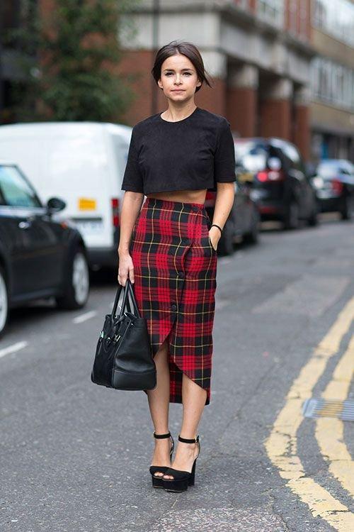 Long Skirt, Crop Top