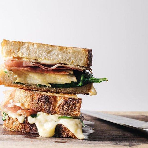 food, dish, sandwich, produce, meat,