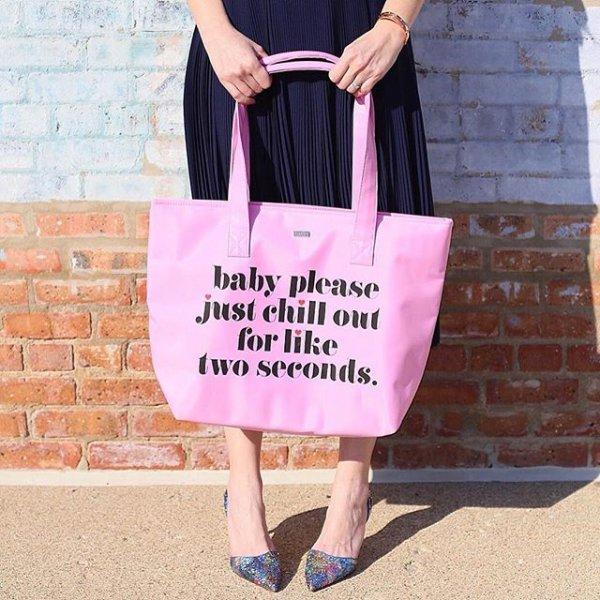clothing, handbag, pink, brand, outerwear,