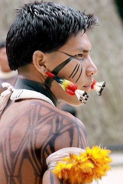 Young Kuikuro Indian in Brazil