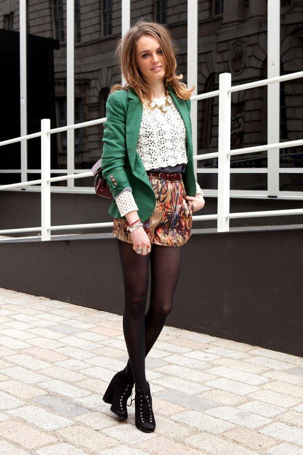 The Classic Blazer + Skirt Combo