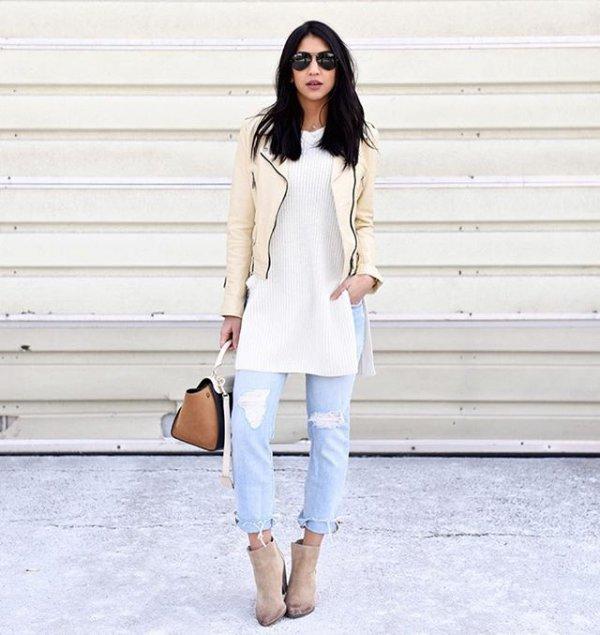 white, clothing, outerwear, jacket, spring,