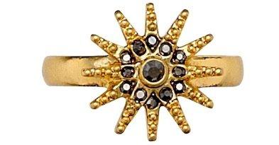 Pilgrim Gold and Hematite Toe Ring