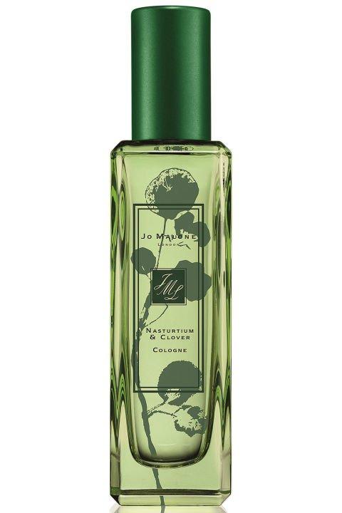 perfume, lotion, cosmetics, glass bottle, NASTURTIUM,