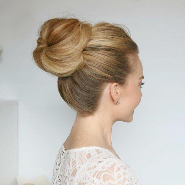 hair, hairstyle, bun, long hair, chignon,
