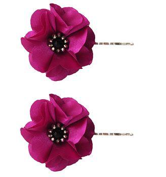 Beaded Rosette Hair Pins