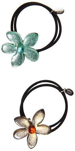 Jane Tran Gold and Aqua Ponytail Set