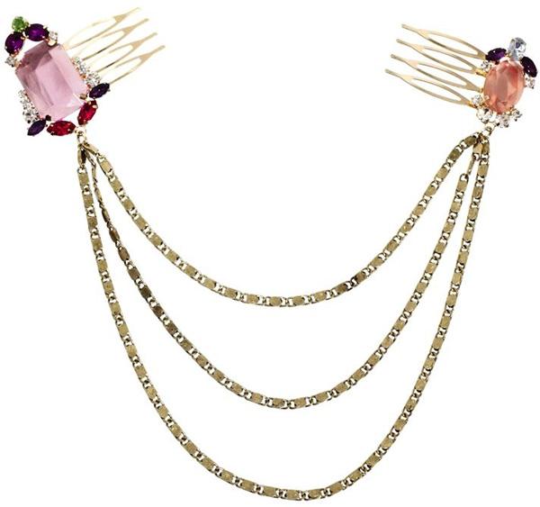 Jewel and Chain Hair Combs