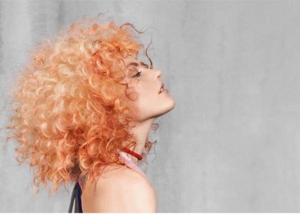 hair, hairstyle, orange, peach, costume,
