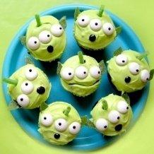Disney Alien Cupcakes